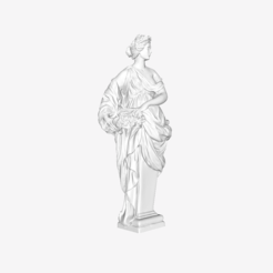 Download free STL file Spring at the Louvre, Paris, France • 3D printable design, Louvre
