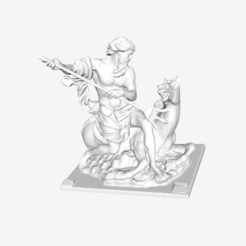 Download free 3D printer designs Neptune at The Louvre, Paris, Louvre