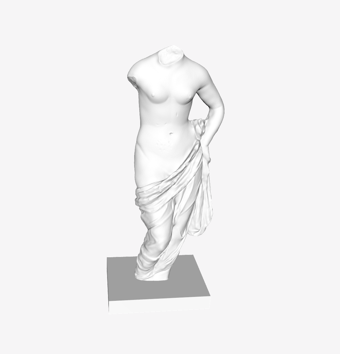 Capture d'écran 2018-09-21 à 10.32.16.png Download free STL file Aphrodite holding her Drapery at The Louvre, Paris • 3D printable template, Louvre