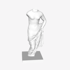 Download free 3D printing designs Aphrodite holding her Drapery at The Louvre, Paris, Louvre