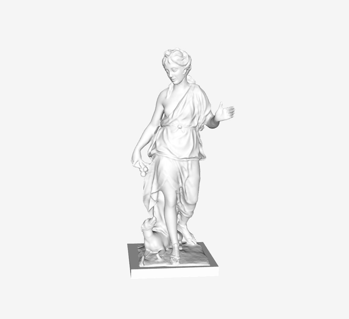 Capture d'écran 2018-09-21 à 11.35.40.png Download free STL file Companion of Diana at the Louvre, Paris, France • 3D printing design, Louvre