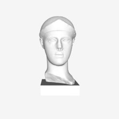 Free 3D printer designs Head of a Helmeted Athena at The Louvre, Paris, Louvre