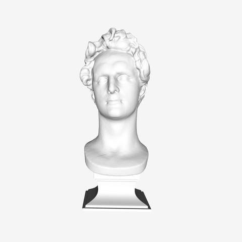Download free STL files Lamartine at The Louvre, Paris, Louvre