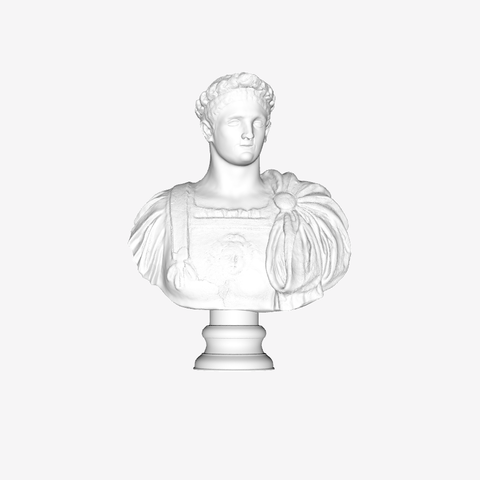Download free STL file Domitien at The Louvre, Paris • 3D printing design, Louvre