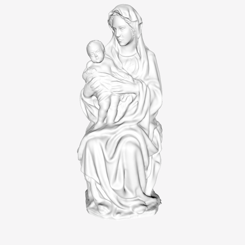 Download free 3D printer designs The Virgin and Child at The Louvre, Paris, Louvre