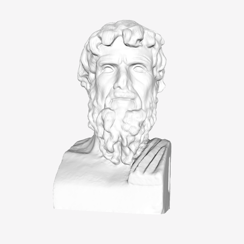 Download free 3D printing designs Portrait of a cynical philosopher at the Louvre, Paris, Louvre