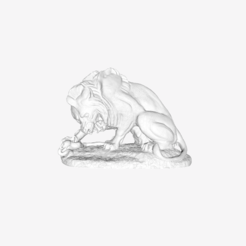 Download free STL file Lion and Serpent at The Louvre, Paris • 3D printing template, Louvre