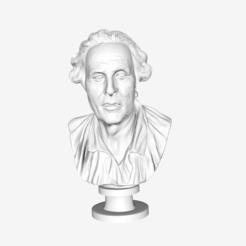 Free 3D printer designs Self Portrait of Jean-Baptiste Pigalle at The Louvre, Paris, Louvre