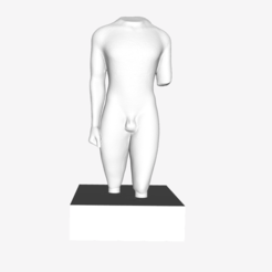 Download free 3D printing templates Later Kouros from Actium at The Louvre, Paris, Louvre
