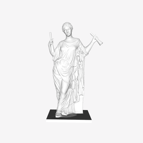 Capture d'écran 2018-09-21 à 15.01.44.png Download free STL file Aphrodite Leaning against a Pillar at The Louvre, Paris • 3D printing template, Louvre