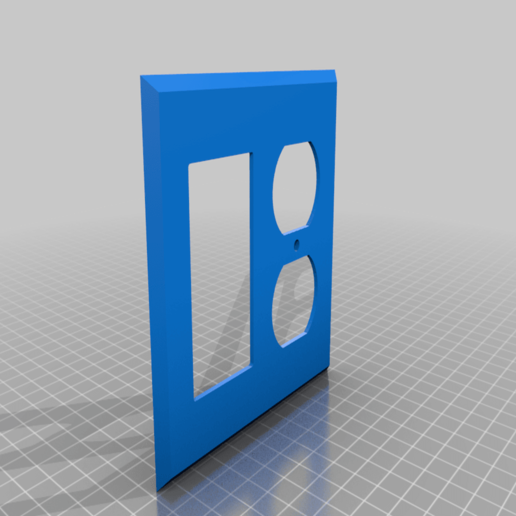 Download free STL file 2 Gang Outlet Cover: GFCI + Duplex • Object to 3D print, bencolt45