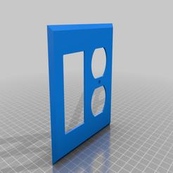 Download free 3D printer designs 2 Gang Outlet Cover: GFCI + Duplex, bencolt45