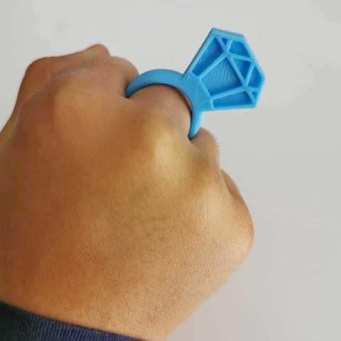 Télécharger fichier 3D Bague Diamant, fahimalmas