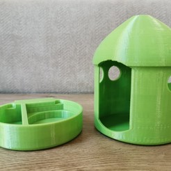 Download 3D printer designs Bird house and feeder, fahimalmas