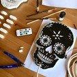 Free 3D printer designs Calavera - Skull light, pacificateur