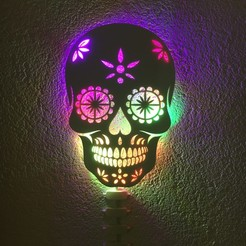 Download free 3D printer templates Calavera - Skull light, pacificateur