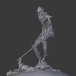 Descargar modelos 3D para imprimir El General Grievous en la Guerra de las Galaxias pisando clones, NoirorcShiva