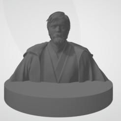 Photo face.png Télécharger fichier STL Kenobi Bust • Design imprimable en 3D, NoirorcShiva