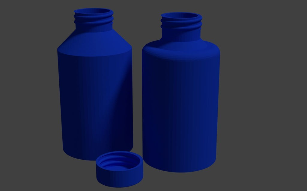 893b8b9ef683346c4419d9c407bd7331_display_large.jpg Download free STL file Bottles and screw cap • 3D printing template, Scorpa54