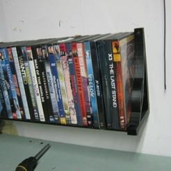 Télécharger STL gratuit Support d'étagère pour DVD, Scorpa54