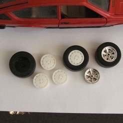 DSCF8333.JPG Download free STL file Alfa Romeo Factory Style Rims for Bburago • Object to 3D print, aussiemuscle308