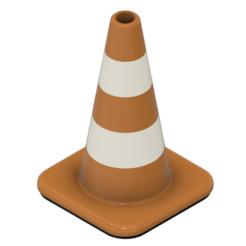 Descargar diseños 3D gratis cono de señalización, patcha