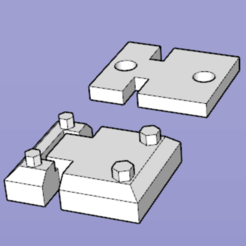 Download free 3D printer templates door hinge for TRX4 DEFENDER, patcha