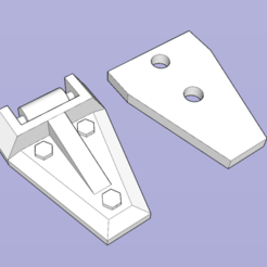 Download free STL hood hinge for TRX4 DEFENDER, patcha