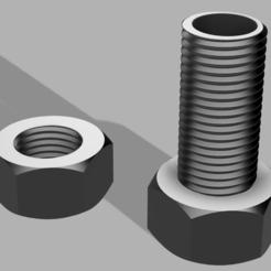 boite boulon.PNG Télécharger fichier STL gratuit boite de rangement forme boulon • Design pour imprimante 3D, patcha