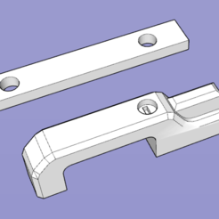Download free 3D printing templates door handle for TRX4 DEFENDER, patcha
