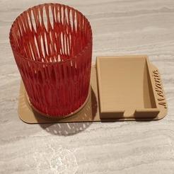 01.jpg Download STL file pencil cup with storage • 3D print model, Ericdu62
