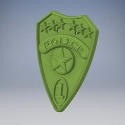 plaque.jpg Télécharger fichier STL plaque de police pour enfants • Modèle imprimable en 3D, Ericdu62