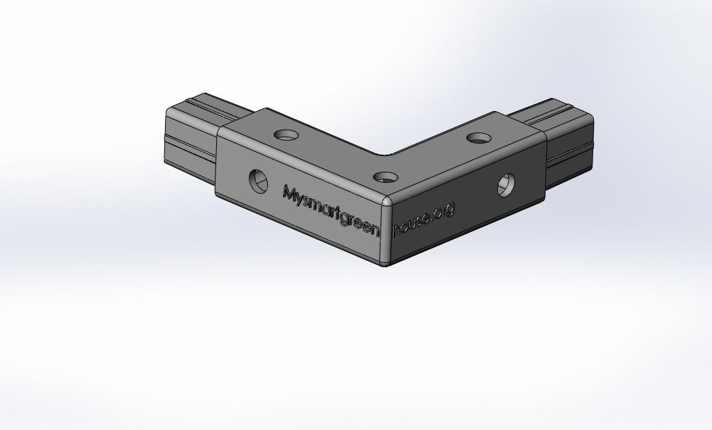 20x20 Winkel Greenhouse doppelt.JPG Télécharger fichier STL gratuit Angle de raccordement pour serre • Objet imprimable en 3D, mysmartgreenhouse