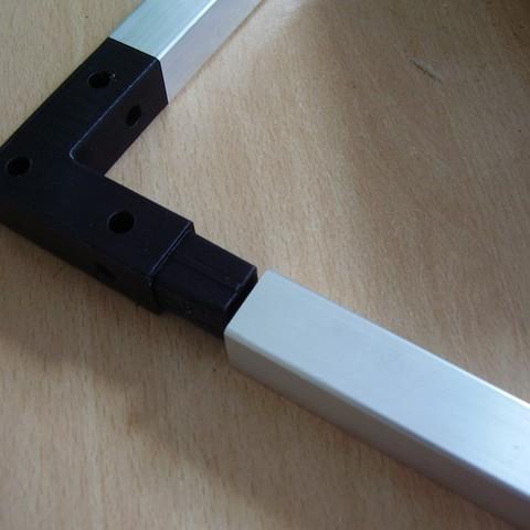 fichier imprimante 3d gratuit angle de raccordement pour serre la poste. Black Bedroom Furniture Sets. Home Design Ideas