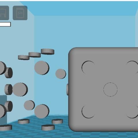 partes.jpg Download STL file SAYS / DICE - DUAL EXTRUDE • 3D printable design, jesusthompson