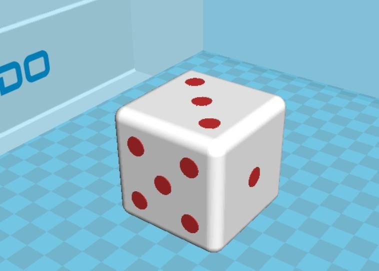 dado.jpg Download STL file SAYS / DICE - DUAL EXTRUDE • 3D printable design, jesusthompson