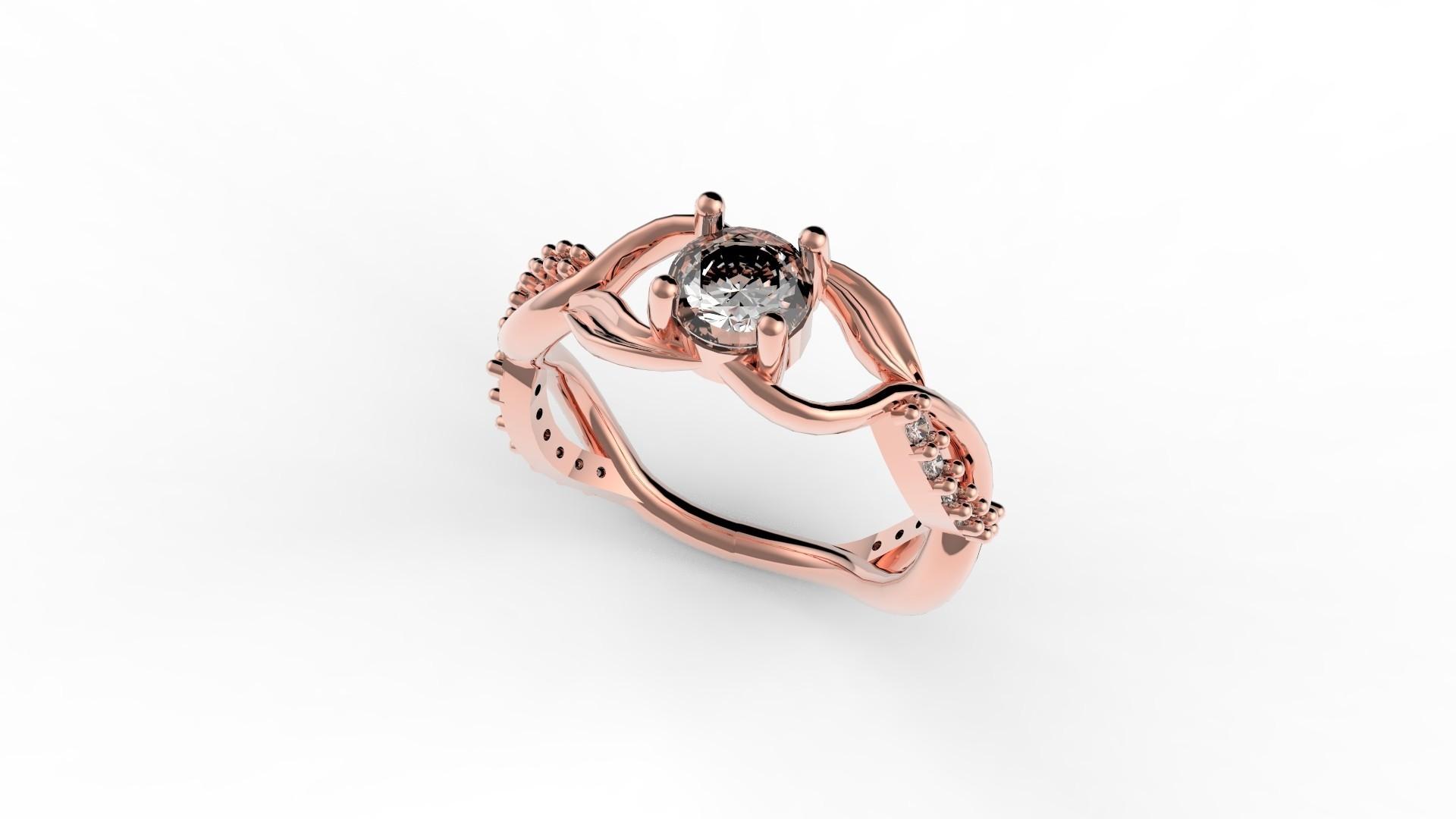 untitled.1338.jpg Download STL file DIAMOND RING • Model to 3D print, Dancad