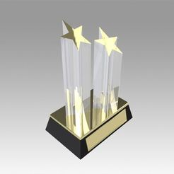 Download 3D printing files Award figurine Two Star gold , Blackeveryday