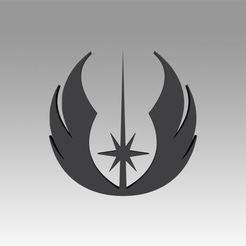 1.jpg Download OBJ file Jedi Order Galactic Empire symbol logo • 3D print design, Blackeveryday