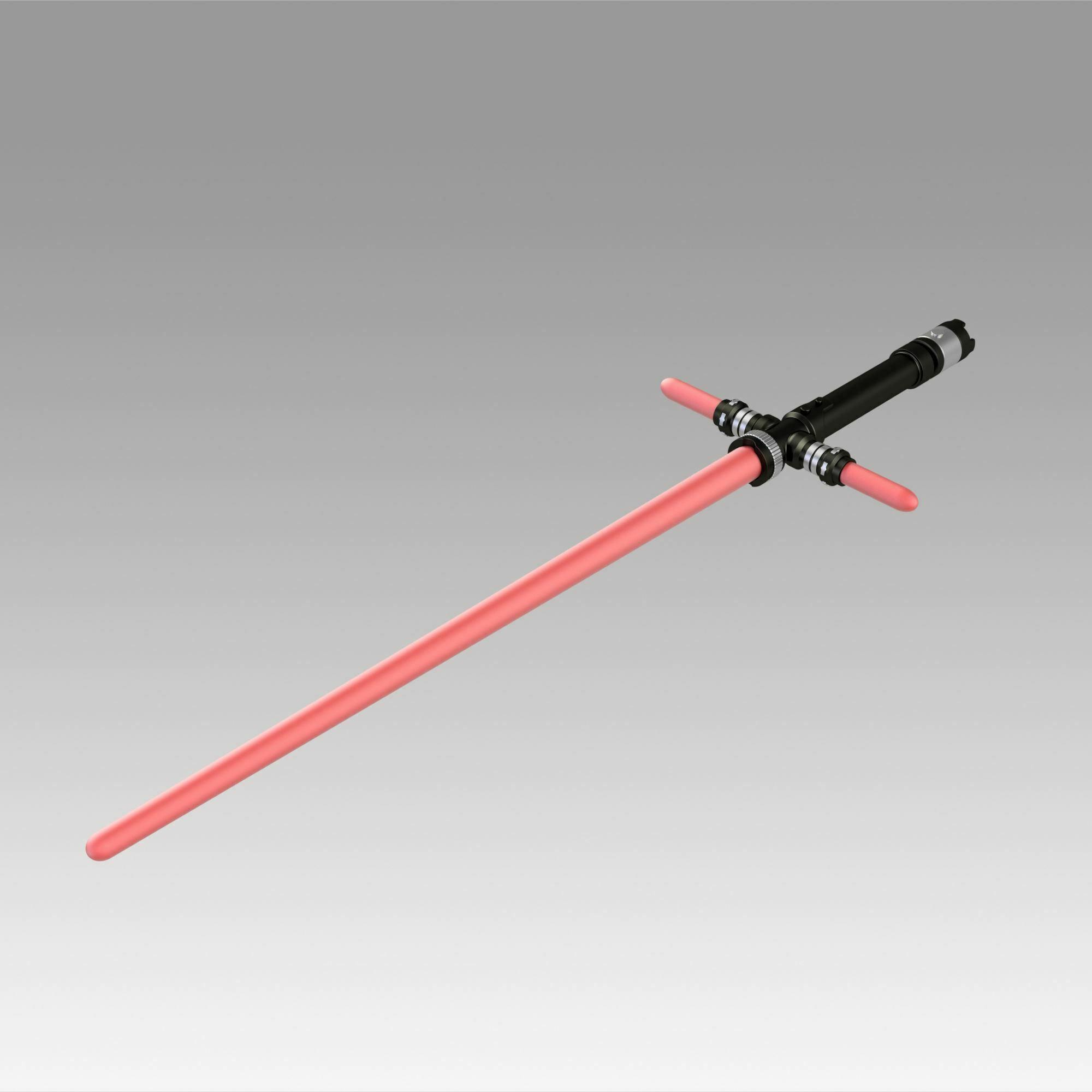 6.jpg Download OBJ file Star Wars VII The Force Awakens Kylo Ren Sword Cosplay Prop • 3D printer object, Blackeveryday