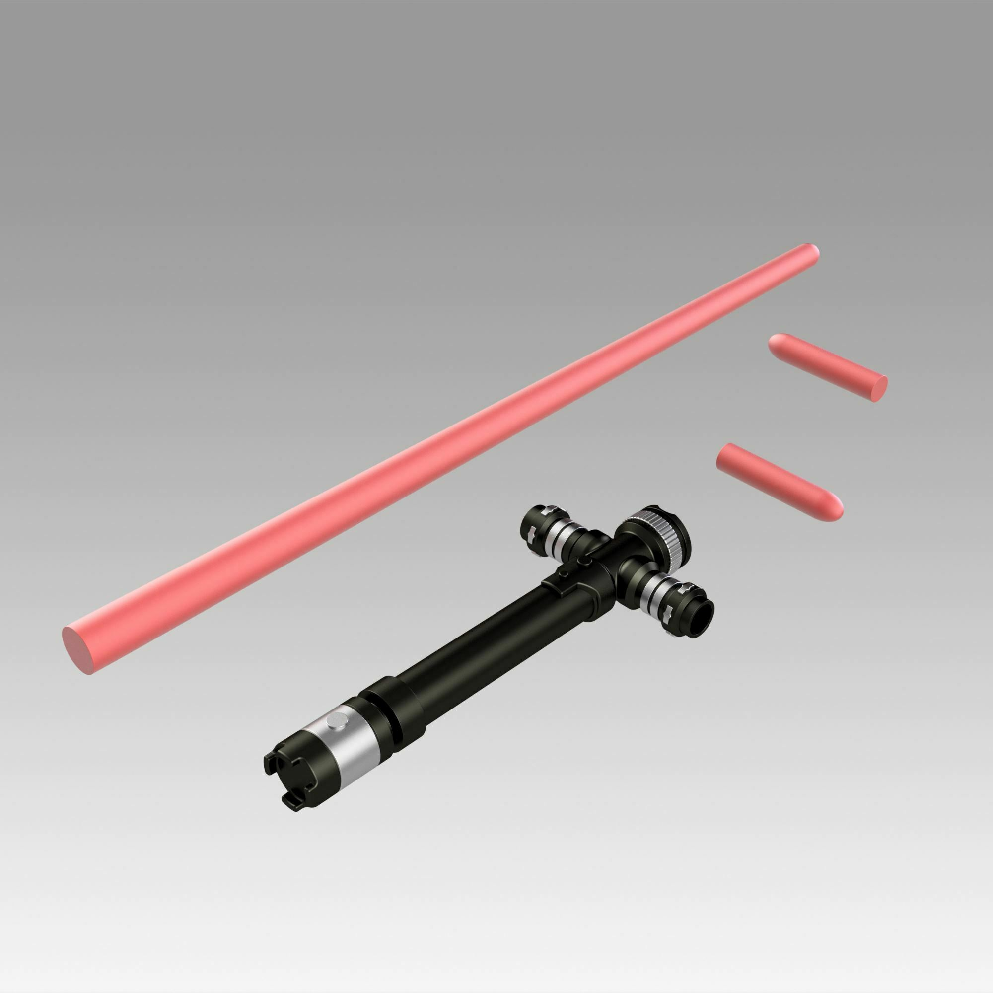 10.jpg Download OBJ file Star Wars VII The Force Awakens Kylo Ren Sword Cosplay Prop • 3D printer object, Blackeveryday