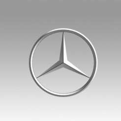 Download 3D printing designs Mercedes logo, Blackeveryday