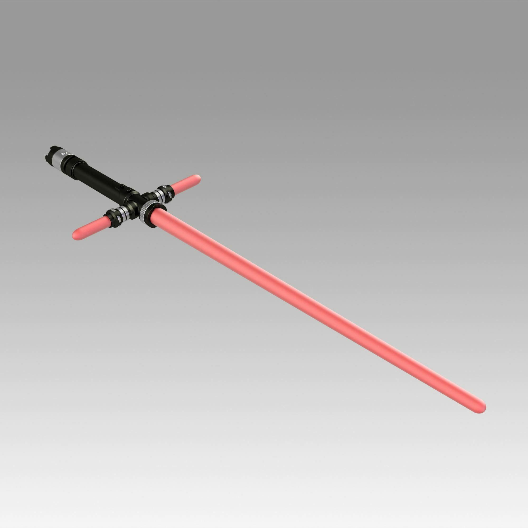 4.jpg Download OBJ file Star Wars VII The Force Awakens Kylo Ren Sword Cosplay Prop • 3D printer object, Blackeveryday