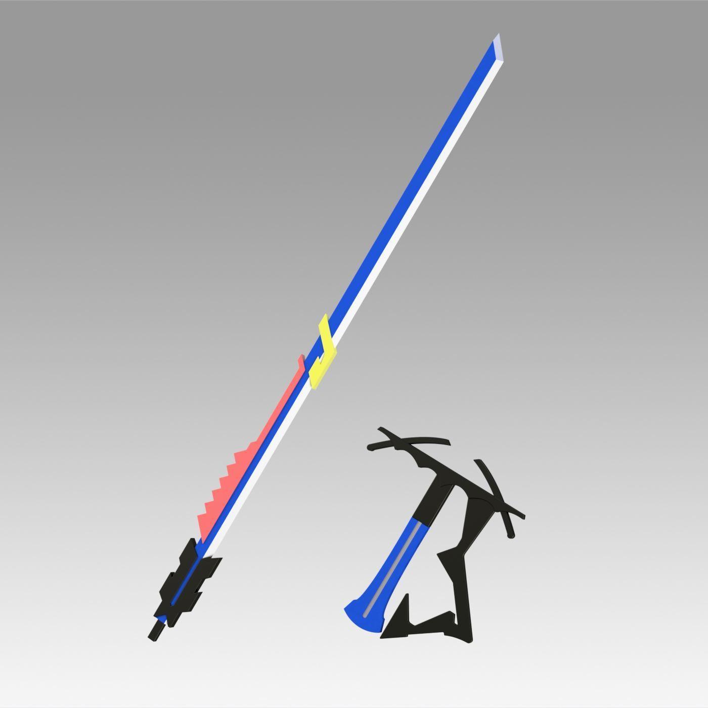 10.jpg Download OBJ file Arknights Astesia Epoque Sword Cosplay Weapon Prop  • 3D printable template, Blackeveryday