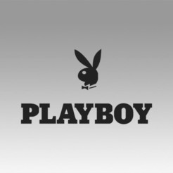 Descargar modelos 3D para imprimir Logotipo de Playboy, Blackeveryday