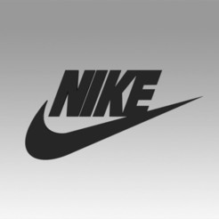 Download 3D printer model Nike logo, Blackeveryday