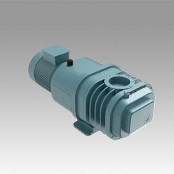 1.jpg Download OBJ file Twin rotor vacuum pump • 3D printing design, Blackeveryday