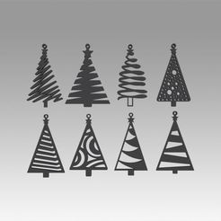 Download 3D printing models Christmas tree toy set, Blackeveryday