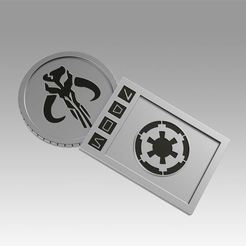 Download 3D printer templates Star wars Galactic Currency from Sabacc table, Blackeveryday