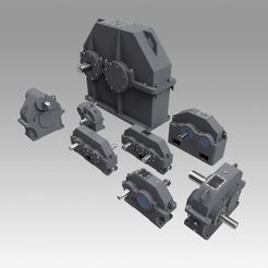 Download 3D printer model Gearbox set , Blackeveryday